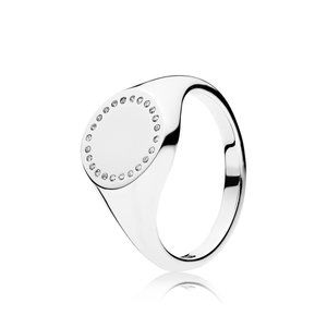 Pandora Circle Signet Ring